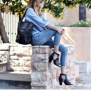 Bed Stu Olena Zip Front Heel Sandals